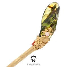 Golden Amber hair pin, contemporary. Naschenka boutique - Korea.