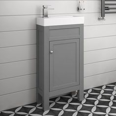 440mm Melbourne Earl Grey Floor Standing Vanity Unit - soak.com