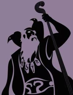 A pretty powerful depiction of Odin and his ravens.Sweet and powerful