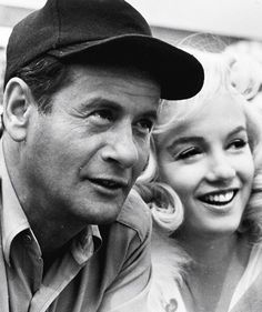 "Eli Wallach and Marilyn Monroe on the set of ""The Misfits"", 1960."