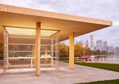 """A cross-laminated timber structure has been built in Chicago, bring that city it's first high profile application of the wood construction material being used in high rise wood building construction. The Chicago Horizon project was designed by Ultramoderne, a Rhode Island architectural group, for a competition, and represents """"a quest to create the largest wood roof possible."""""""