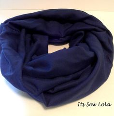 Midnight Blue Summer Infinity Scarf  www.etsy.com/shop/itssewlola