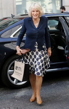 The Duchess was all smiles today as she arrived at the BBC Radio 2 studios in London this morning