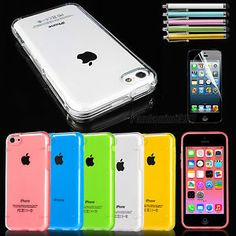 Scratch-Resistant Cover Ultra Thin Clear Transparent TPU Case For iPhone 5C