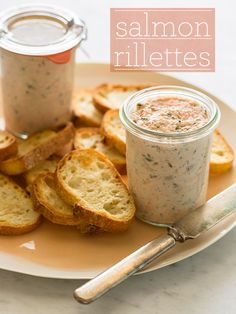 Salmon Rillettes - a great spread to make for parties or to put on anything...