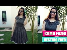 Corte e costura - como fazer vestido três marias com gola degagê | Ellen Borges - YouTube