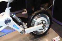 D-Art's tilting three-wheeled EV has a monoshock rear end