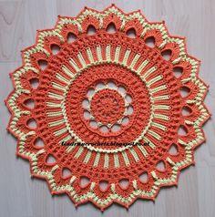 Wendy pattern by Grace Fearon Crochet Coaster Pattern, Crochet Mat, Crochet Purse Patterns, Crochet Mandala Pattern, Thread Crochet, Crochet Stitches, Crochet Hooks, Crochet Tablecloth, Crochet Doilies