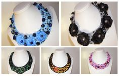 Statement necklaces (handmade) for sale.