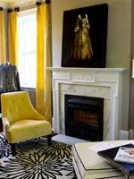 yellow warms up a room.  Newnan, Georgia