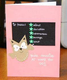 """TEACH"" Teacher Appreciation Card by thepaperhugfactory on Etsy, $4.00"