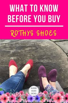 Our review of what you need to know before buying your first pair of Rothy's shoes.    #supermompicks #momlife #rothys #rothysshoes #rothysflats #rothyspoints #rothysreviews #momfashion via @supermompicks