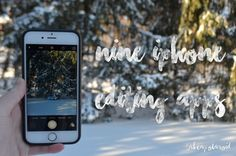 9 iPhone Editing Apps! {photography, iphone, apps, blogging, blog}