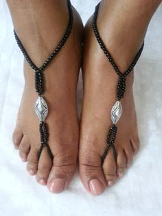 Barefoot Sandals Anklet Foot Jewelry by ZamydreDesigns on Etsy, $13.00