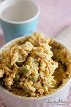 Torta de Frango sem massa, para ver a receita, clique na imagem para ir ao Manga com Pimenta.