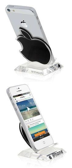 Apple Logo Shape Plastic Smartphone Display Rack - Black $3.42 #apple #logo #shape #plastic #smartphone #display #rack #black