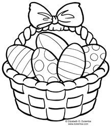 Coloring Page Tuesday Easter Basket In 2020 Free Easter