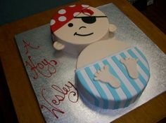 Baby Boy Pirate Shower Cake