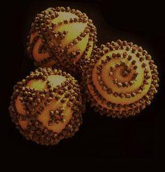 Three Orange Pomanders and Exotic Spice Potpourri: Fragrant Bowl Filler. $36.00, via Etsy.