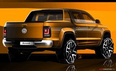 New Volkswagen Amarok Design Revealed in Sketches