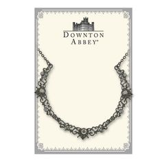 """$35+ FREE S/H!! from #TheSingingSpaniel's #BridalGifts - #Downton #Abbey® #Hematite Tone #Crystal #Onyx #Jet #Black #Filigree #Scallop #Necklace 
