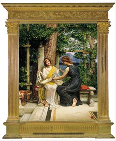 1901 painting by Sir Edward John Poynter called Helena and Hermia.