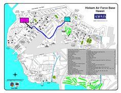 Hickam Air Force Base Hawaii Map | Joint Base Pearl Harbor