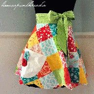 Apron pattern/tutorial.  This fabric is really great!