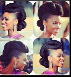 Gorgeous natural hair updo.