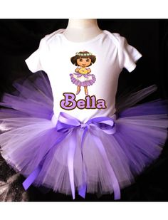 DORA the Explorer Tutu Birthday Outfit by PrettyAsAPrincess2, $27.99