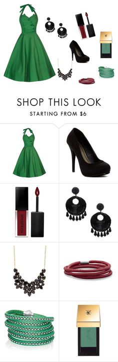 """""""Green Grapes"""" by elisa120 ❤ liked on Polyvore featuring Michael Antonio, Smashbox, Kenneth Jay Lane, Charlotte Russe, BillyTheTree, Sif Jakobs Jewellery and Yves Saint Laurent"""