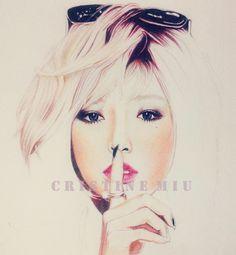 Hyuna WIP(Drawing by CristineMiu)