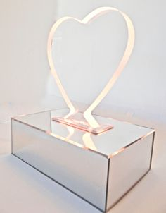 Lucite/Acrylic Heart Shaped Mirrored Base Nightlight With Soft Pink Light-Gold or Chrome Mirror by JoNaiDesigns on Etsy https://www.etsy.com/listing/495942995/luciteacrylic-heart-shaped-mirrored-base