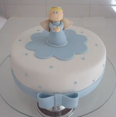 65 ideas cupcakes cakes for kids simple Baby Boy Cakes, Cakes For Boys, Fondant Cakes, Cupcake Cakes, Ideas Bautismo, Torta Baby Shower, Religious Cakes, Confirmation Cakes, First Communion Cakes