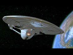 Star Trek: First Contact-Enterprise-E in orbit around past Earth.