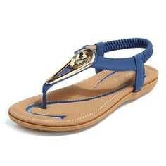 ae3cbcb11678 Socofy SOCOFY Metal Clip Toe Elastic Slip On Flat Sandals is comfortable to  wear. Shop on NewChic to see other cheap women sandals on sale.