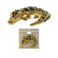 Goldtone Alligator Pin Case Pack 60