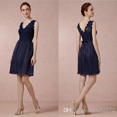 Free shipping, $49.74/Piece:buy wholesale 2014 Bridesmaid Dress Navy Blue Lace Wedding Party Dress Short Simple Cocktail Dress Cheap Junior Bridesmaid Dresses Wedding Guest of 2014 Spring Summer,Knee-Length,Reference Images on wsztz272's Store from DHgate.com, get worldwide delivery and buyer protection service.