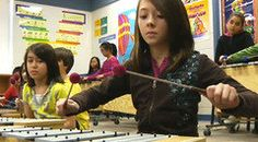 Check out this classroom video on Teaching Channel. Teaching rhythm/note values through language
