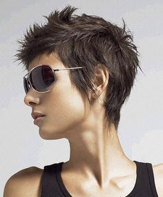 Spiked pixie cut