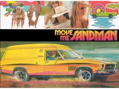 It was called the 'shaggin' wagon' and it embodied Australia's easy-going surf lifestyle. Now, forty years after it was first launched, the Holden Sandman is making a comeback. Holden Australia, Aussie Muscle Cars, Australian Cars, Car Brochure, Mode Of Transport, Rally Car, Advertising Poster, Cool Cars, Classic Cars