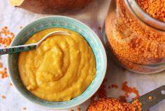 lilla matdériven: Sötpotatis- och linspuré med kokosmjölk för små