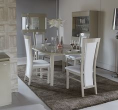 fete large fixed dining table & set of 4 albert chairs fete | dfs