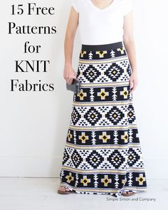 Don't fear knit fabric! Use these 15 Sewing Projects for KNITS to make you a better sewists and sew up a new wardrobe for you and your little ones!