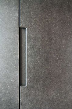 Visions of an Industrial Age // Grey mdf handle, Trevelyan House by Bradley Van Der Straeten Architects