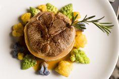 Carte Automne 2016 - La selle d'agneau rôtie, couscous de chou-fleur aux citrons confits & jus au romarin #lyon #restaurant #gastronomie