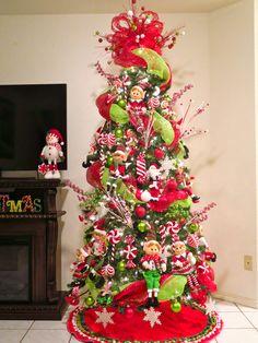 Elf Tree Christmas Holidays T Green