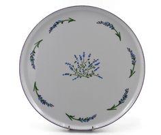 Plat à tartes rond porcelaine fine décor provençal lavande Decorative Plates, Tableware, Lavender Bouquet, Tarts, Porcelain, Dinnerware, Tablewares, Dishes, Place Settings