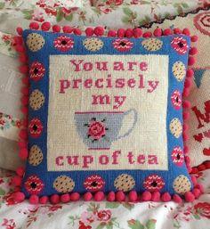 Cup of Tea Needlepoint Kit