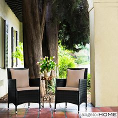 angelo:HOME Napa Estate Summer Cocoa Brown Indoor/ Outdoor Dining Chairs (Set of 2) | Overstock.com Shopping - Big Discounts on ANGELOHOME D...